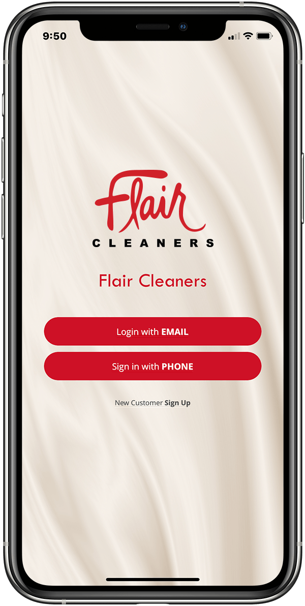 Flair Cleaners Mobile App